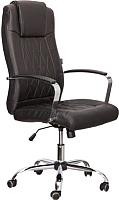 Кресло офисное Седия Teodor Chrome Eco (черный) -
