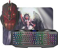 Клавиатура+мышь Defender MKP-019 RU (с ковриком) -