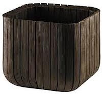Кашпо Keter Wood Look Cube Planter S 17202066 / 230226 (коричневый) -