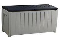 Сундук уличный Keter Novel Deck Box 17197948900 / 230412 (серый/черный) -