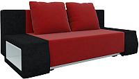 Диван Mebelico Чарли люкс 144 / 58540 (вельвет, красный/черный) -