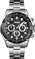Часы наручные мужские Skmei 1366 (серебряный/черный) -