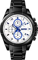 Часы наручные мужские Skmei 1378 (черный/белый) -