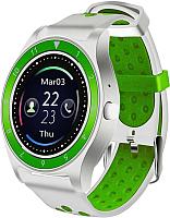 Умные часы D&A F010 (белый/зеленый) -