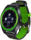 Умные часы D&A F010 (черный/зеленый) -