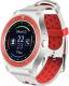 Умные часы D&A F010 (белый/красный) -