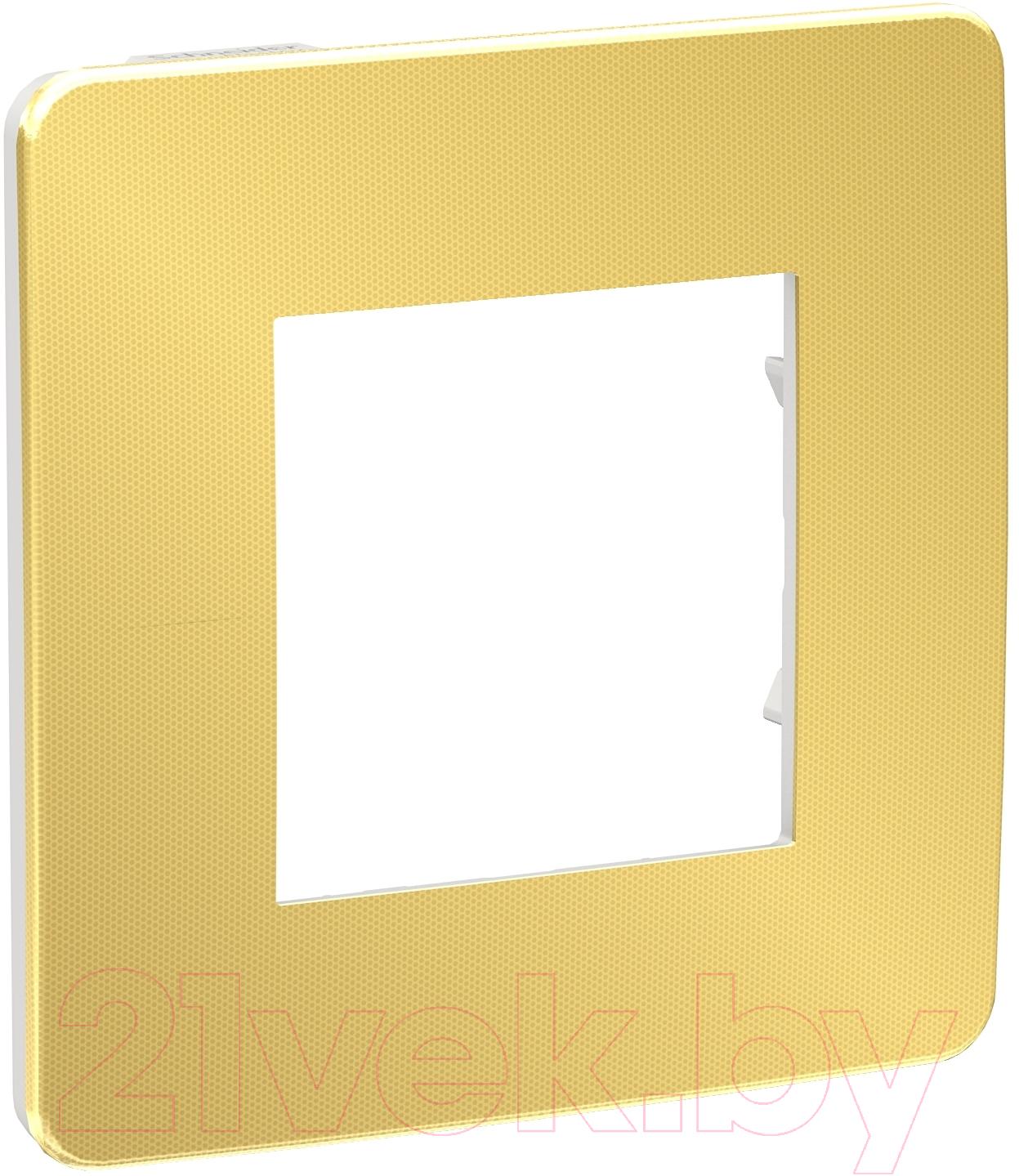 Купить Рамка для выключателя Schneider Electric, Unica NU280259, Россия, пластик, Unica Studio (Schneider Electric)