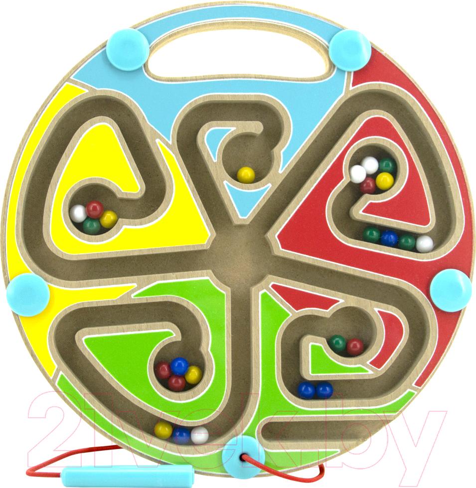 Купить Развивающая игрушка МДИ, Магнитный лабиринт. Цвета / Д442, Китай, дерево