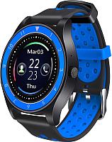 Умные часы D&A F010 (черный/синий) -
