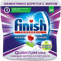 Таблетки для посудомоечных машин Finish Quantum Max анти-жир (54шт) -