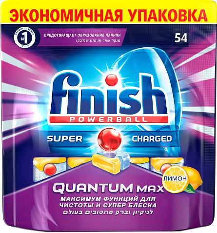 Купить Таблетки для посудомоечных машин Finish, Quantum Max Лимон (54шт), Венгрия