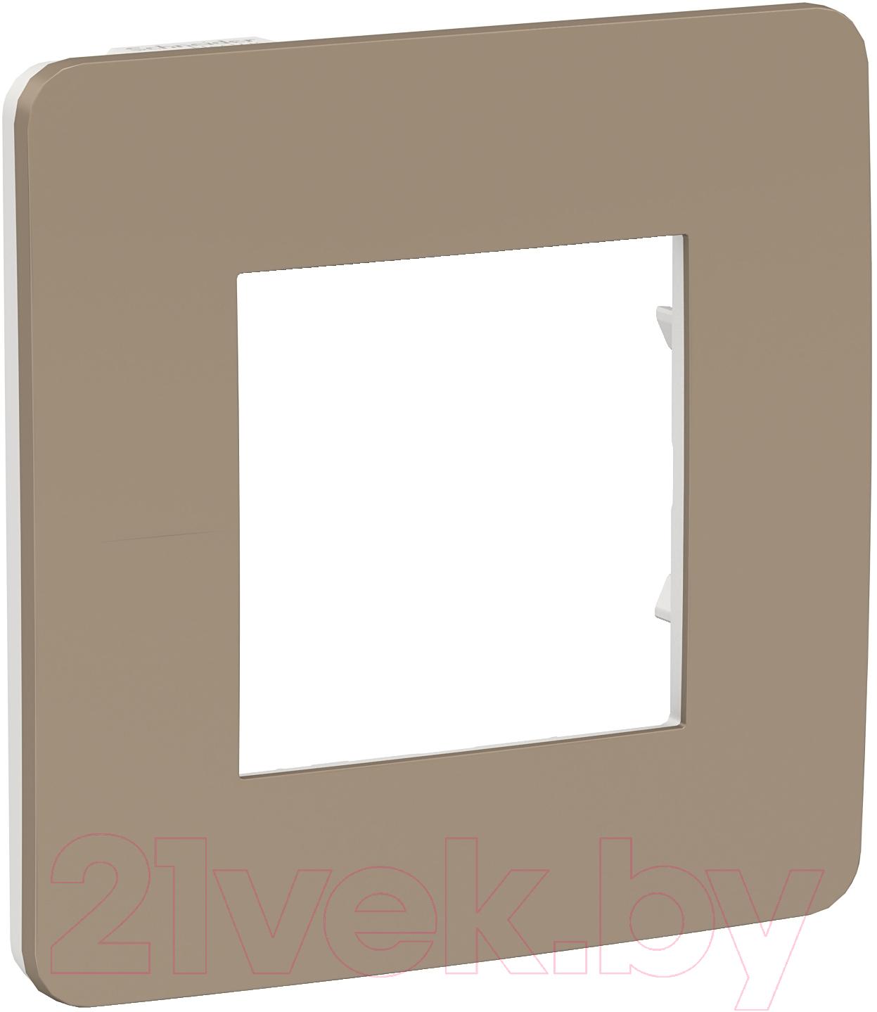 Купить Рамка для выключателя Schneider Electric, Unica NU280226, Россия, пластик, Unica Studio (Schneider Electric)