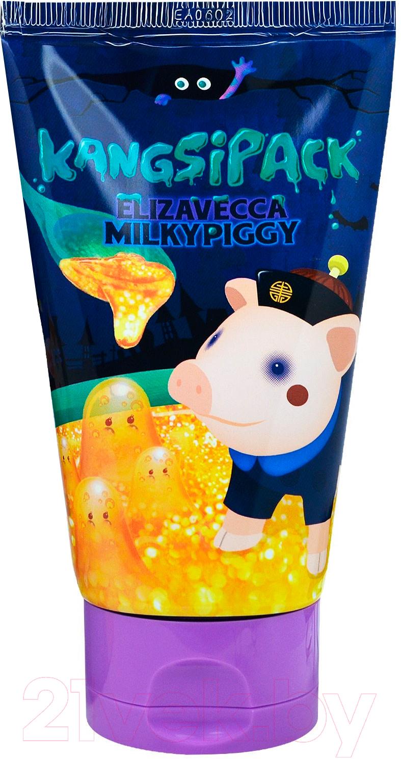 Купить Маска для лица кремовая Elizavecca, Kangsipack с золотом для очищения и сужения пор (120мл), Южная корея, Milky Piggy (Elizavecca)