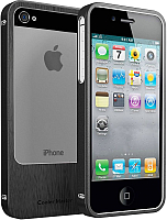 Чехол-бампер Cooler Master Aluminum Bumper for iPhone 5 Black (C-IF5C-ALSL-KK) -