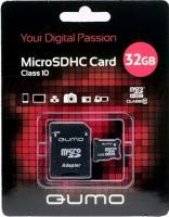 Карта памяти Qumo microSDHC (Class 10) 32GB (QM32GMICSDHC10) -
