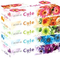 Бумажные салфетки Goo.N Elleair Facial Tissue Cute (160шт) -