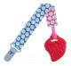 Прорезыватель для зубов Roxy-Kids RSC-001-B (голубой/розовый кружочек) -