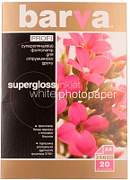 Бумага Barva Profi IP-R260-177 (белый суперглянец) -