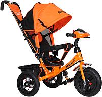 Детский велосипед с ручкой Trike Favorit Rally FTR-1210 (оранжевый) -