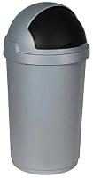 Контейнер для мусора Curver Буллет Бин 03930-877-41 / 174987 (50л, серый/черный) -