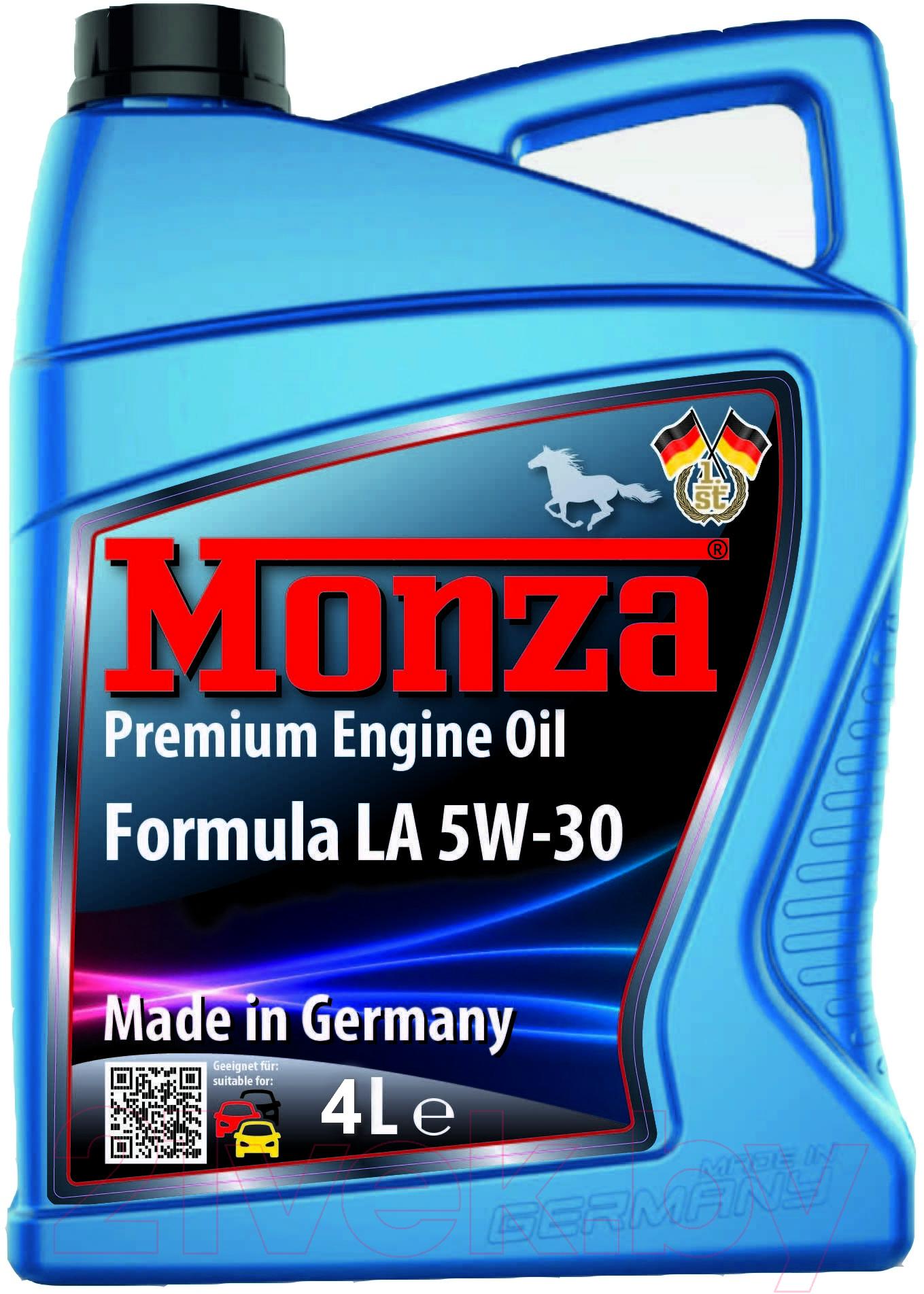 Купить Моторное масло Monza, Formula LA 5W30 / 0305-4 (4л), Германия