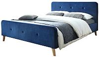 Двуспальная кровать Signal Malmo Velvet 160x200 / MALMOV160GRD -