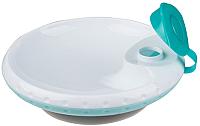 Тарелка для кормления BabyOno С присоской / 1070 (бирюзовый) -