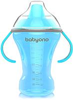 Поильник BabyOno Natural Nursing c мягким носиком 6м+ / 1457 (голубой) -