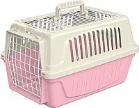 Переноска для животных Ferplast Atlas 5 Open Trasportino / 73006799 (розовый) -