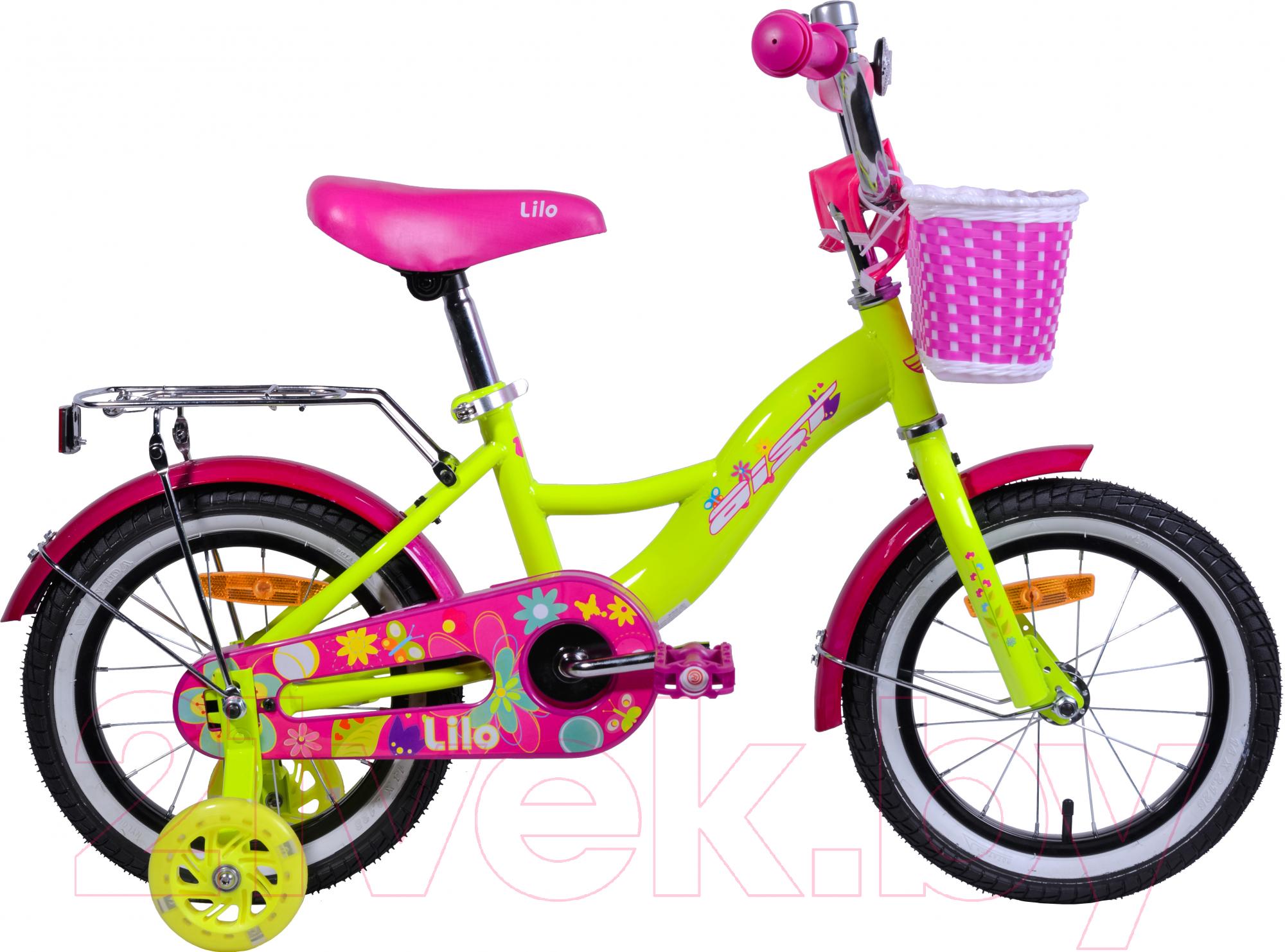 Купить Детский велосипед AIST, Lilo 2019 (14, желтый), Беларусь