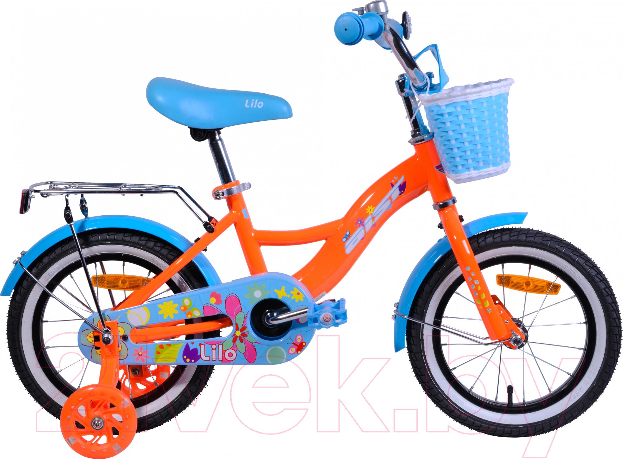 Купить Детский велосипед AIST, Lilo 2019 (14, оранжевый), Беларусь