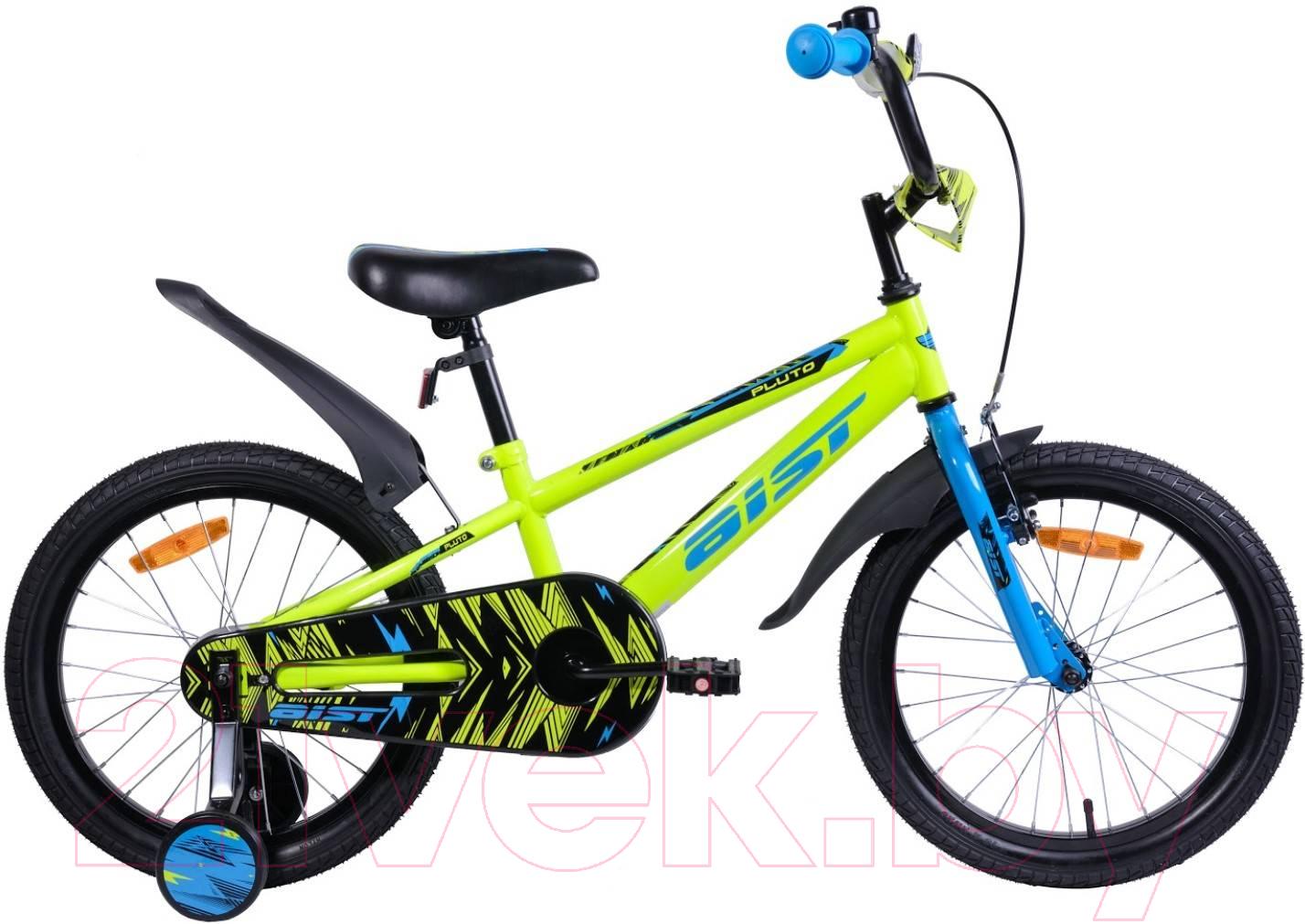 Купить Детский велосипед AIST, Pluto 2019 (18, желтый), Беларусь