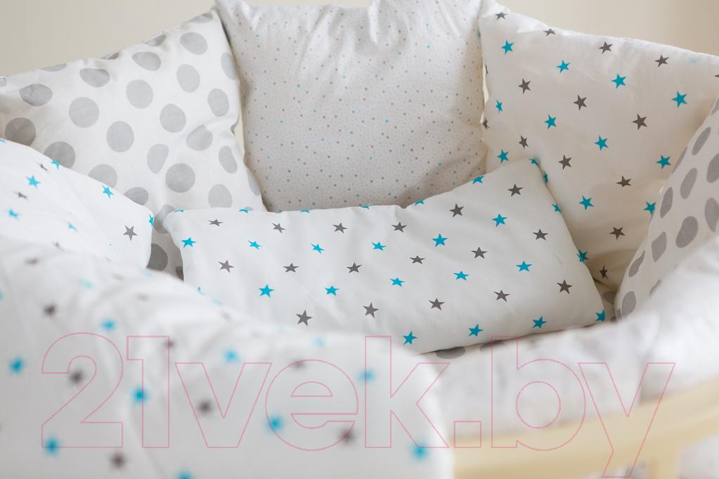 Купить Комплект в кроватку Баю-Бай, Геометрия К51-Г4 (синий), Беларусь, бязь, Геометрия (Баю-Бай)