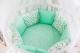 Комплект в кроватку Баю-Бай Птичий рай К91-П3 (бирюзовый) -