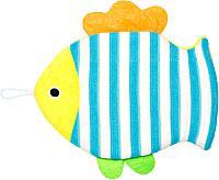 Мочалка для тела Roxy-Kids Рыбка / RBS-006 -