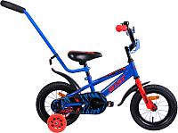 Детский велосипед с ручкой AIST Pluto 2019 (12, синий) -