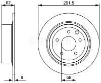 Тормозной диск Bosch 0986479362 -