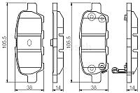 Тормозные колодки Bosch 0986495089 -