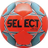 Футбольный мяч Select Beach Soccer / 815812 (размер 5, оранжевый/голубой/черный) -