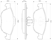 Тормозные колодки Bosch 0986424507 -