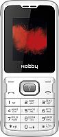 Мобильный телефон Nobby 110 (белый/серый) -