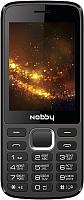 Мобильный телефон Nobby 300 (черный/серый) -