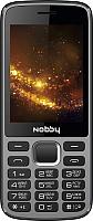 Мобильный телефон Nobby 300 (серый/черный) -