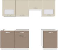 Готовая кухня ВерсоМебель Эко-6 2.4 (латте/бежевый) -