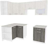 Готовая кухня ВерсоМебель Эко 6 1.2x2.2 левая (северное дерево светлое/северное дерево темное) -