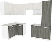 Готовая кухня ВерсоМебель Эко-6 1.4x2.7 левая (северное дерево светлое/северное дерево темное) -