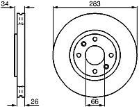 Тормозной диск Bosch 0986478979 -