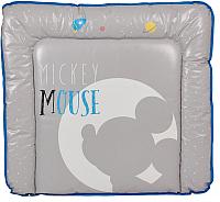 Доска пеленальная Polini Kids Disney baby. Микки Маус (серый) -
