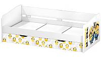 Двухъярусная кровать Polini Kids Fun 4200 Миньоны (желтый) -