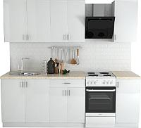 Готовая кухня Хоум Лайн Кристалл Лайт 1.8 (белый глянец) -